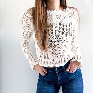 Tops - Vintage Boho Knit Sweater w/ Bell Sleeves - XS